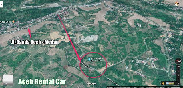 Lokasi Taman Wisata Burung Dara Indrapuri