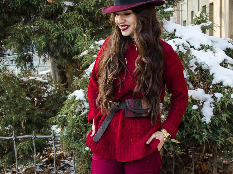 fashion blogger diyorasnotes marsala oversized jumper culottes shein oxfords zaful socks