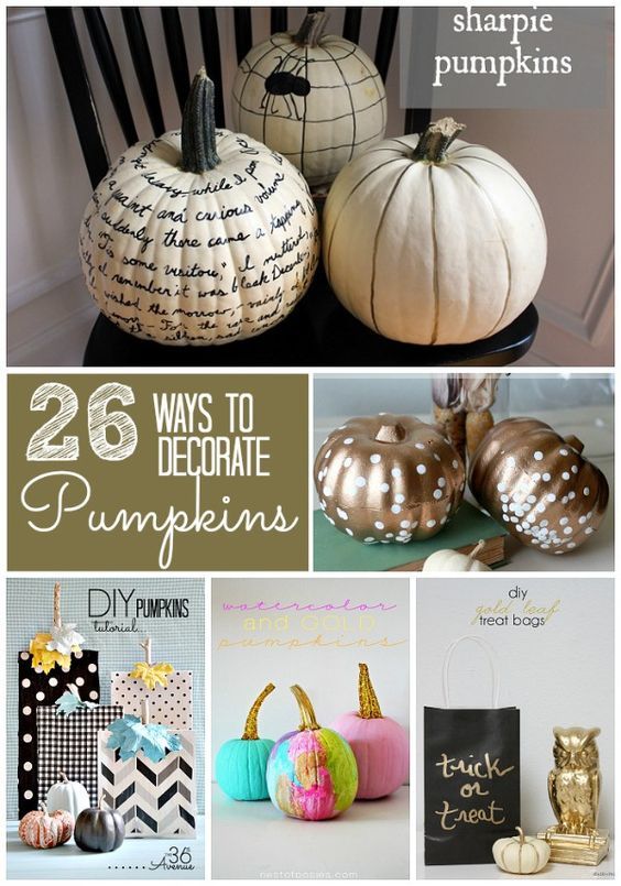 calabazas con chalk paint
