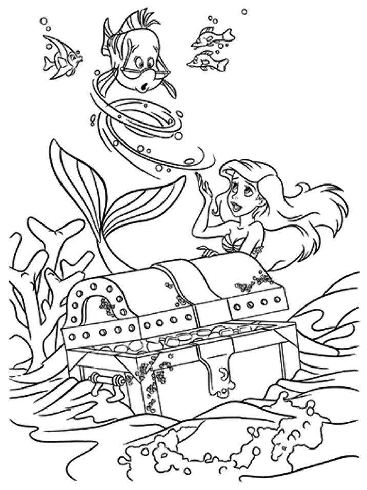 Desenhos Para Colorir E Imprimir A Pequena Sereia