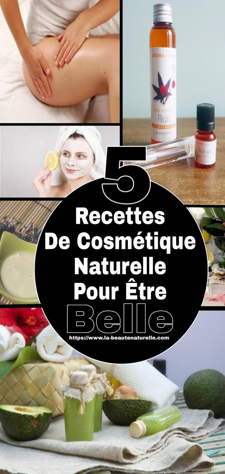 5 Recettes De Cosmétique Naturelle Pour Être Belle