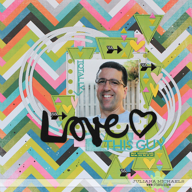 Love This Guy Scrapbook Page by Juliana Michaels featuring Heidi Swapp and 17turtles Digital Cut File