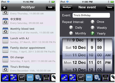 iNotifier App for iPhone