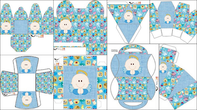 Angel Boy: Free Printable Boxes.