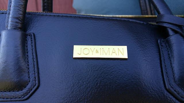 Joy & IMAN Logo on best friend city satchel