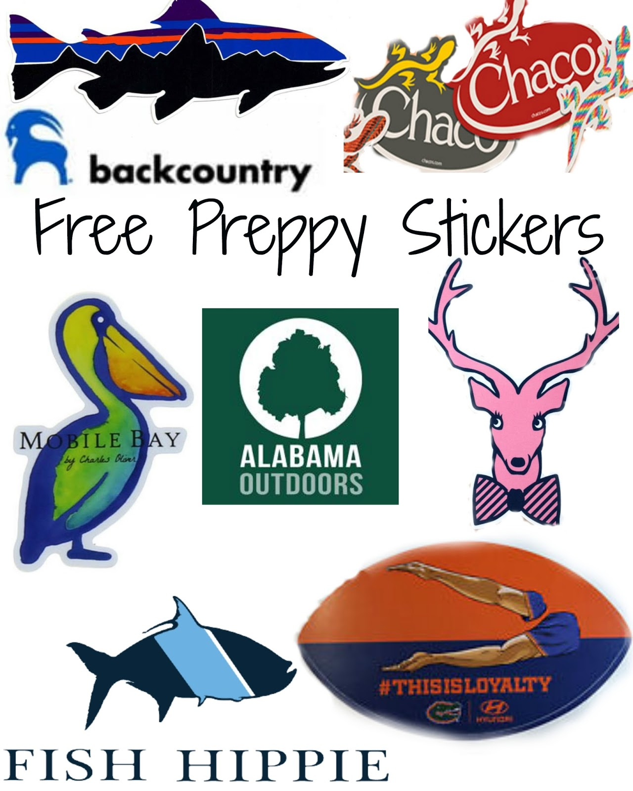 Floridian by the Grace of God: Free Preppy Stickers!