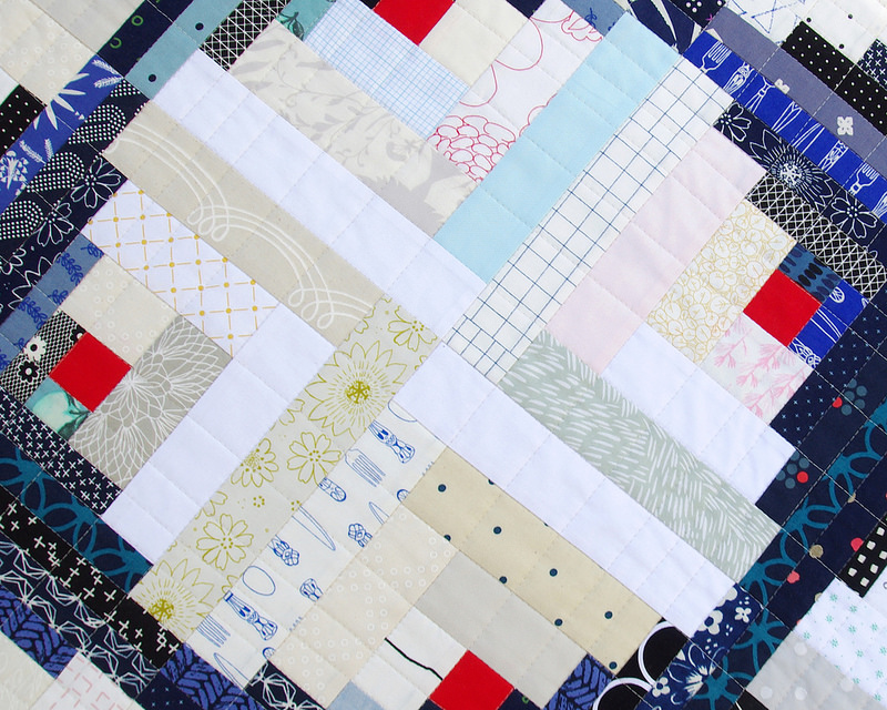 Bluebird Log Cabin Quilt ~ quilting | Red Pepper Quilts 2016