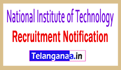 National Institute of Technology NIT Recruitment