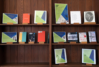 Display of books by this year's poet judges