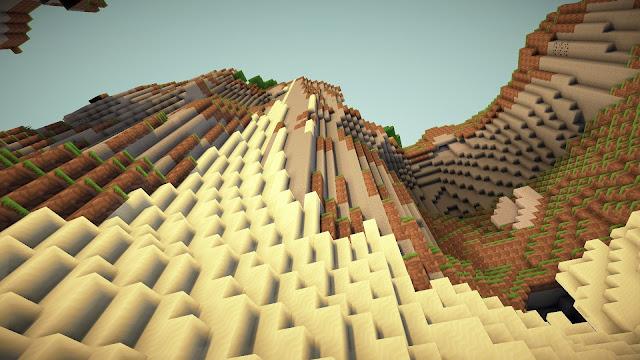 Montaña en minecraft arena y tierra
