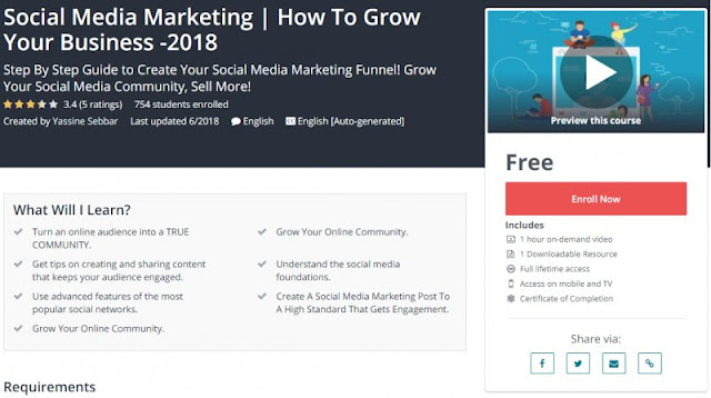 [100% Free] Social Media Marketing | How To Grow Your Business -2018