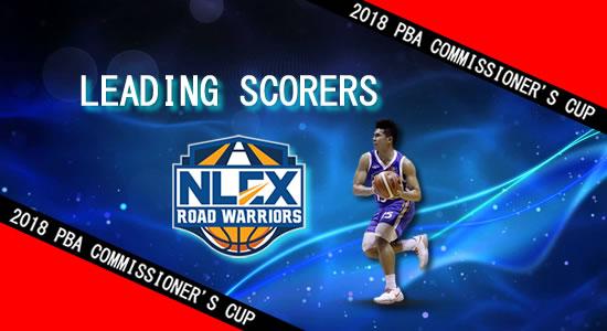 List: Leading Scorers NLEX Road Warriors 2018 PBA Commissioner's Cup