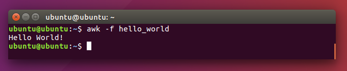 Eksekusi Program AWK di Ubuntu