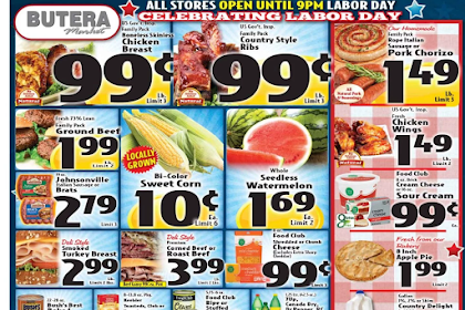 Butera Weekly Ad August 29 - September 4, 2018