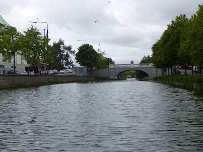 The Grand Canal in Dublin viewed from the water