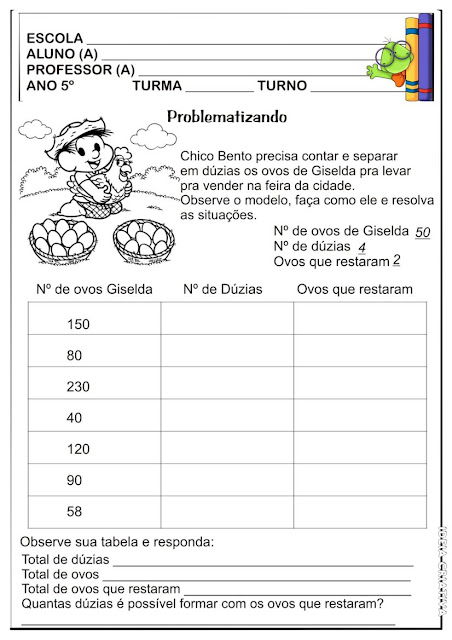 Atividade Matemática Segundo Ciclo Ensino Fundamental