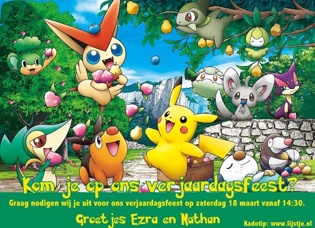 Pokemon Uitnodiging