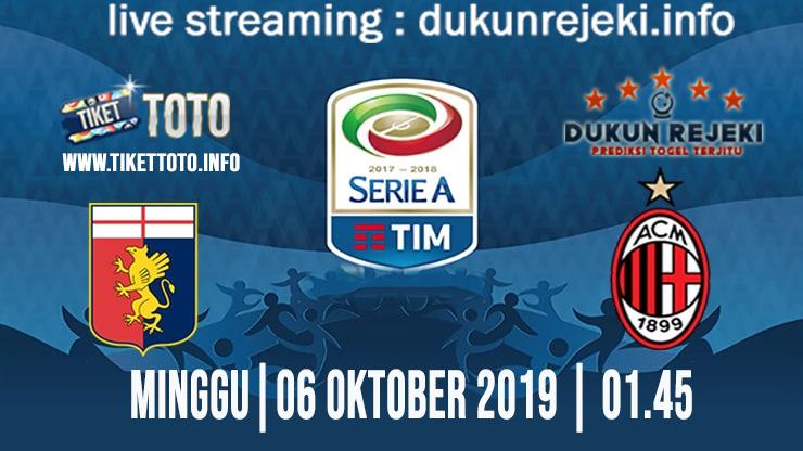 Prediksi Skor Pertandingan Genoa Vs Milan 6 Oktober 2019