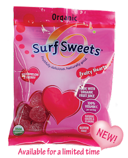 Surf Sweets vegan, gluten free no artificial dyes and made with organic fruit juice and sweetners