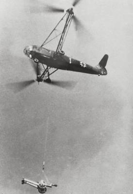 Nazi Helicopter Fa 223 worldwartwo.filminspector.com