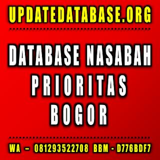 Jual Database Nasabah Prioritas Bogor