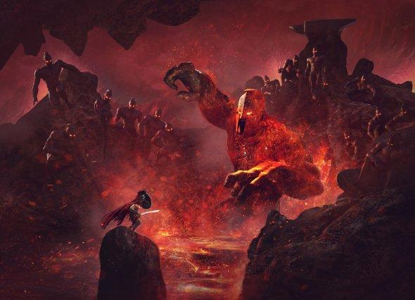Guillem H. Pongiluppi artstation ilustrações fantasia sombrio terror mitologia