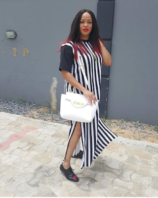superb dress of Adaeze yobo slays In Tshirt dress
