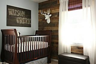 cuarto de bebé celeste marrón