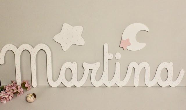 nombre Martina para decorar la pared