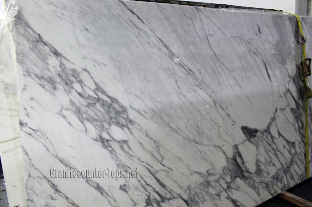 Statuario Cervaiole White Marble Slab Polished