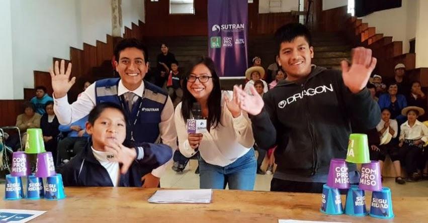 SUTRAN capacita a estudiantes de Cajamarca en prevención de desastres - www.sutran.gob.pe