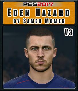 PES 2017 Faces Eden Hazard by Sameh Momen