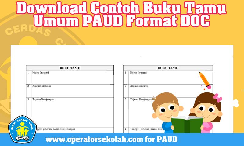 Download Contoh Buku Tamu Umum PAUD Format DOC