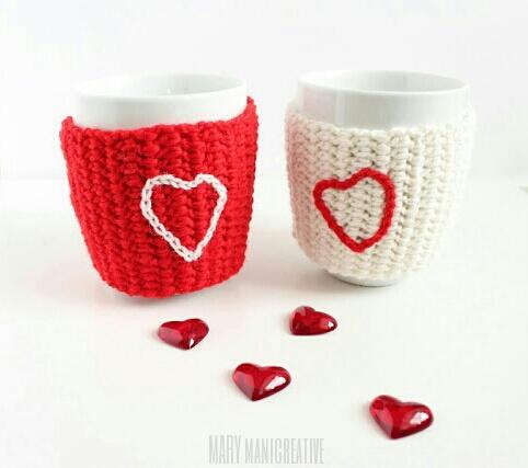 Copritazze cuoriciose per San Valentino