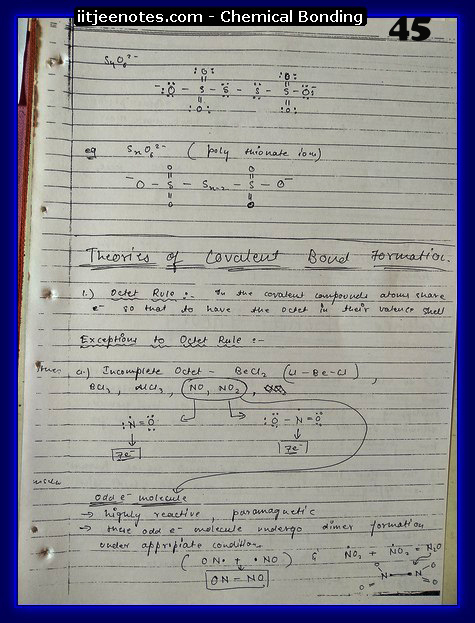 Chemical Bonding Notes IITJEE 22