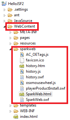 putting sparkweb into web project