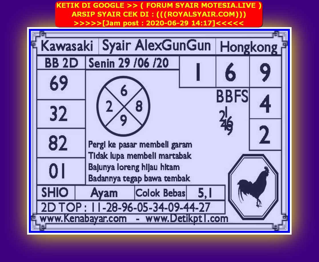 Kode syair Hongkong Senin 29 Juni 2020 195