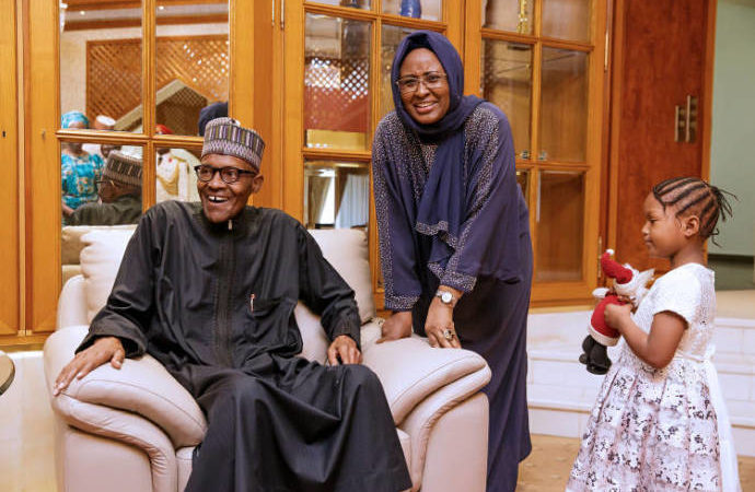 `Buhari's wife joins President in London