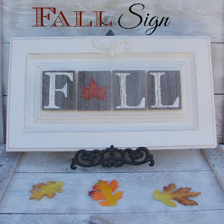 diy fall sign made from cabinet door tutorial