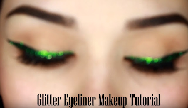 Glitter Eyeliner Makeup Tutorial