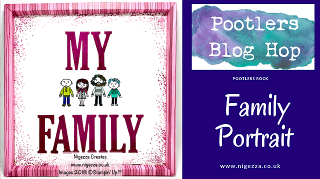 Tutorial for Pootlers Blog Hop: Family & Friends Framed Family Portrait   Nigezza creates
