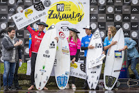 2 Finalists and Winners of the Pro Zarautz pres by Oakley pro zarautz 2018 foto WSL Damien Poullenot