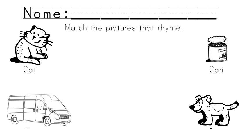 The Crafty Teacher: Printable Rhyming Worksheet