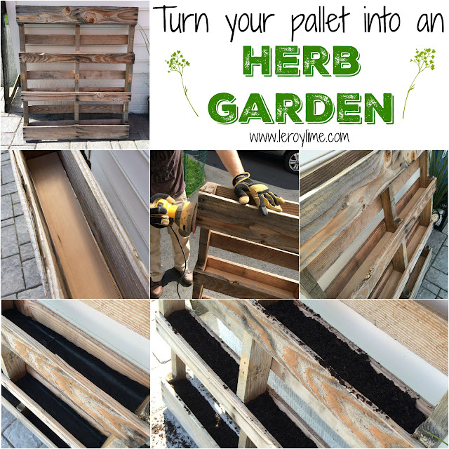 Turn your Pallet into an Herb Garden - DIY - LeroyLime the Blog