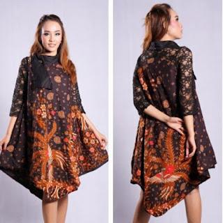 model baju batik atasan muslim 2018
