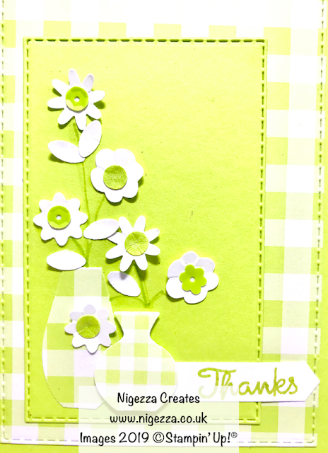Gingham Layered Flower Card Stampin Up! Nigezza Creates