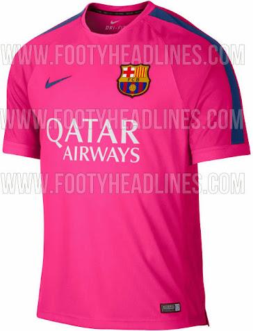 7aed5ef4c40 FC Barcelona 2014-15 Pink Training Shirt Leaked - Footy Headlines
