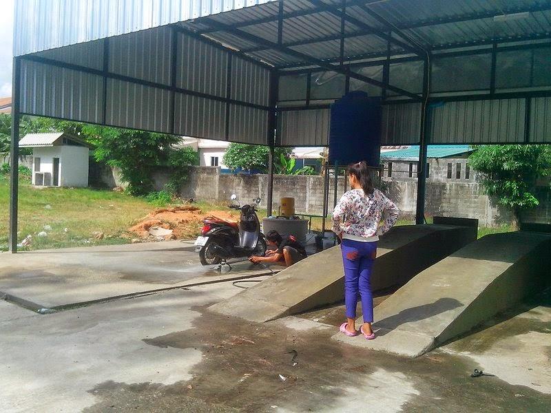 Мойка скутера в Таиладе