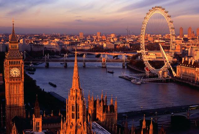 Pontos turísticos do centro de Londres