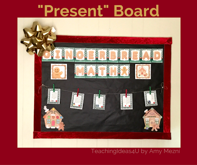 """6 Easy Steps to Make a Bulletin Board """"Present"""" - Looking for a fun and inexpensive way to decorate your room for the holiday? This post shows teachers how to make a bulletin board look like a present."""